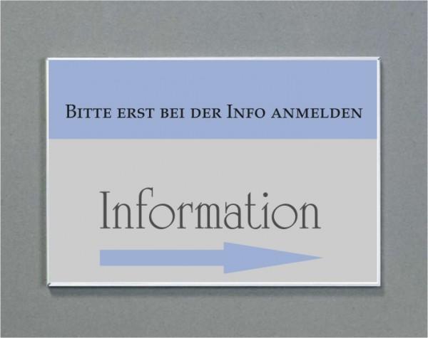 Wandschild | System Karlsruhe | DIN A4 quer